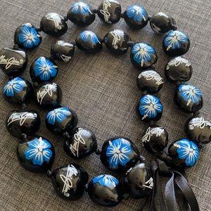 🌺 Maui Jim Sunglasses Hand Painted Kukui Nut Lei
